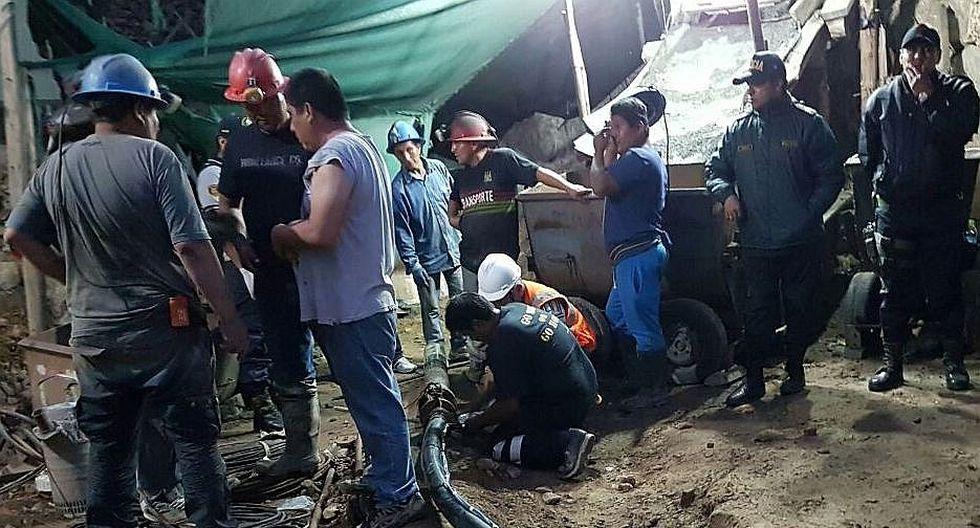 Se reanudan las labores de rescate de los mineros atrapados