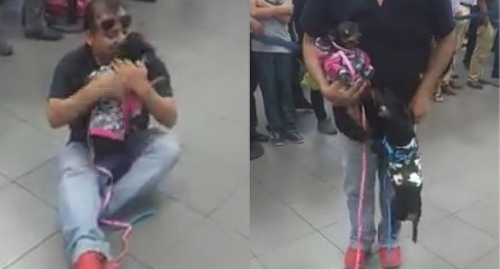 Peruano que vivía en Venezuela se reencuentra con sus mascotas tras 1 año (VIDEO)