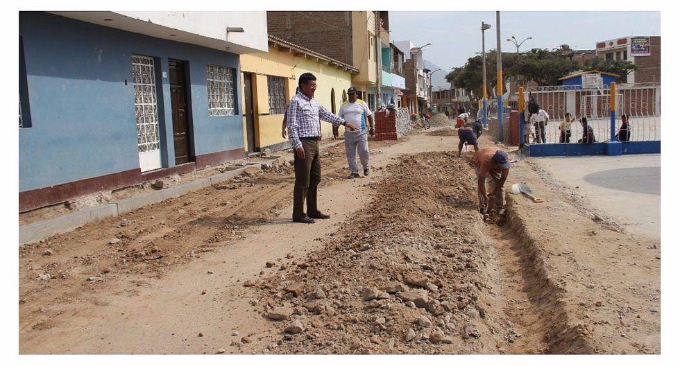 Laredo: Inician mejoras de calles tras huaicos del Fenómeno de El Niño