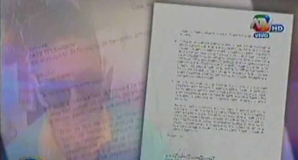 Gerald Oropeza envía nuevamente carta a medios