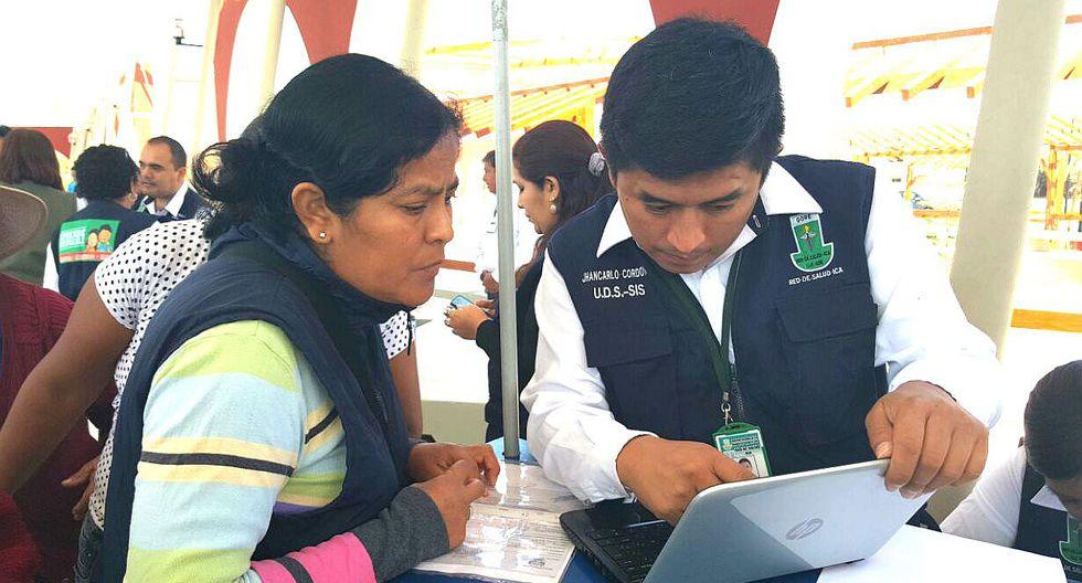Instalan módulo de empadronamiento y afiliación al SIS en zonas afectada por lluvias