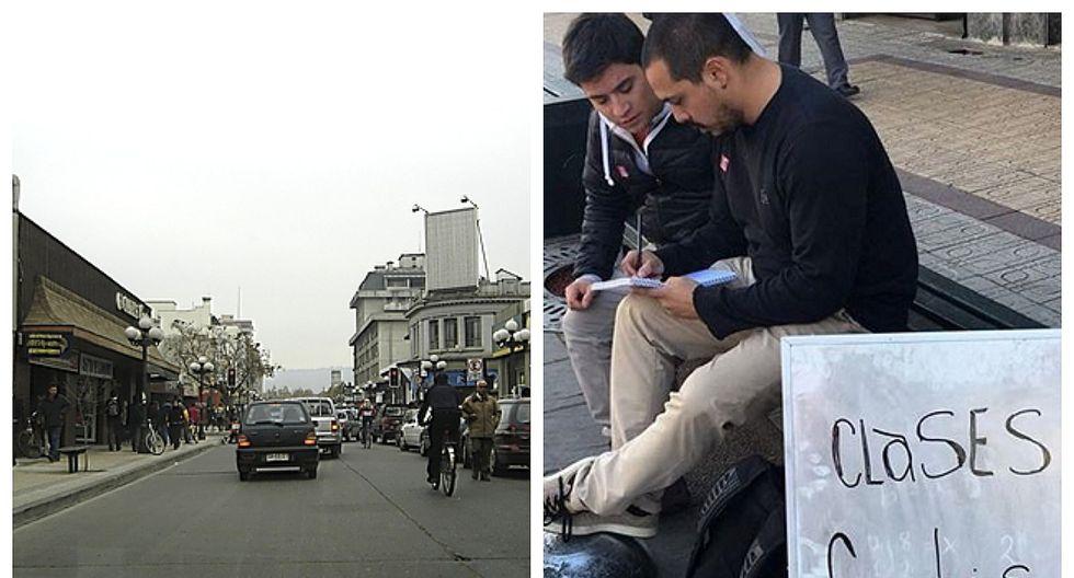 Dicta clases gratuitas en la calle y pide a sus colegas que continúen su iniciativa
