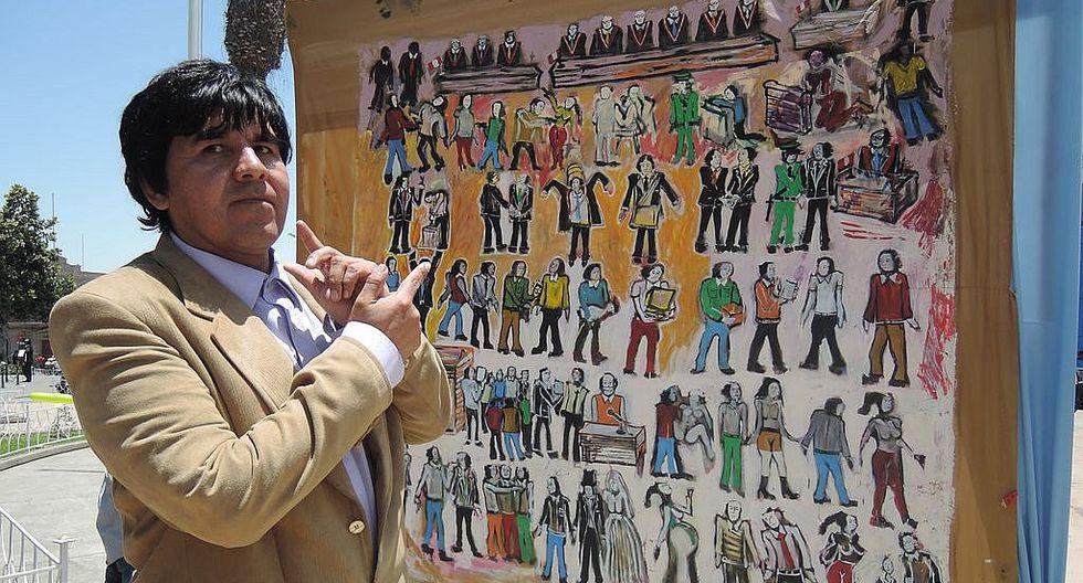 Abogado con dibujos enseña a la población sobre los delitos