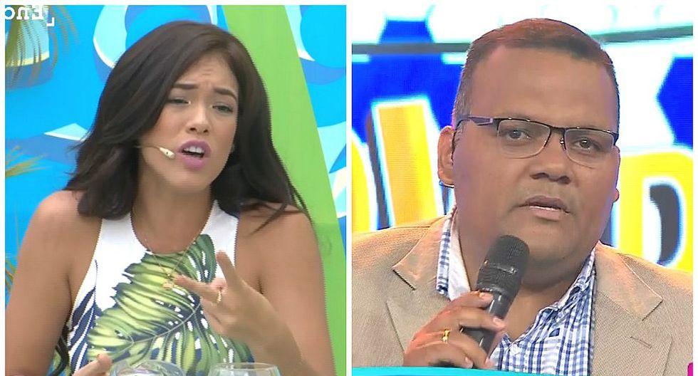 Jazmín Pinedo incomodó al 'Tanque' Arias con pregunta sobre Daniel Peredo (VIDEO)