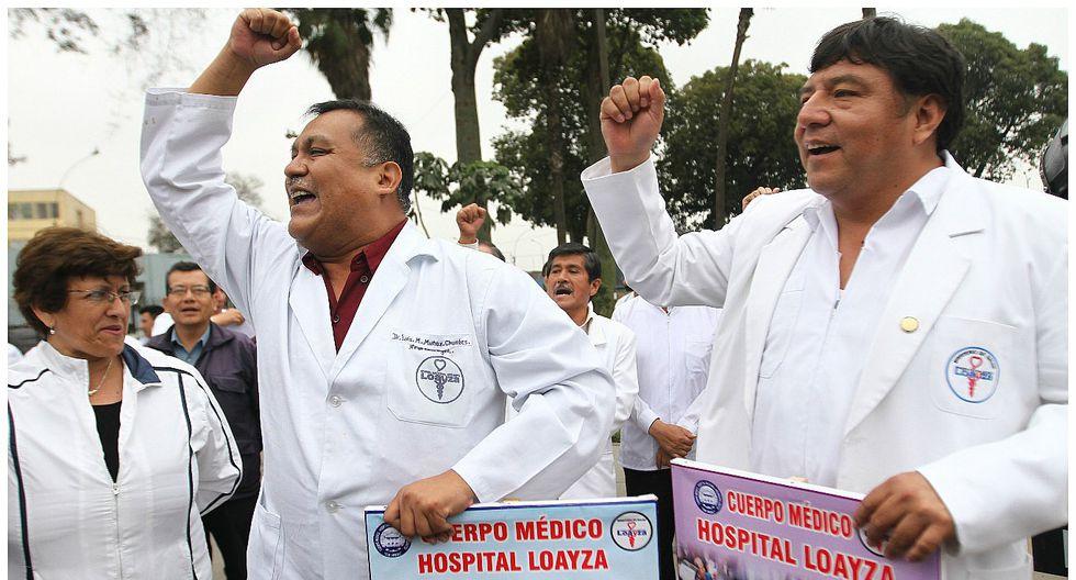 Primer día de paro de médicos fue acatado de forma parcial