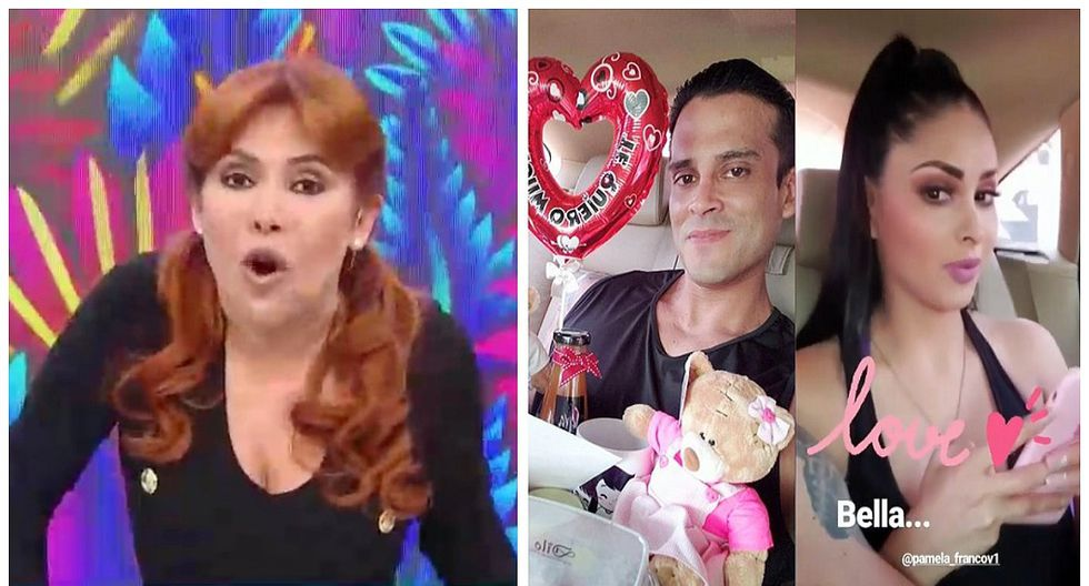"""Magaly Medina llama """"par de pinochos"""" a Christian y Pamela tras celebrar su primer mes (VIDEO)"""