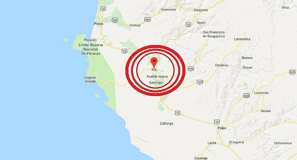 Ica: sismo de magnitud 4.2 se registró en Palpa