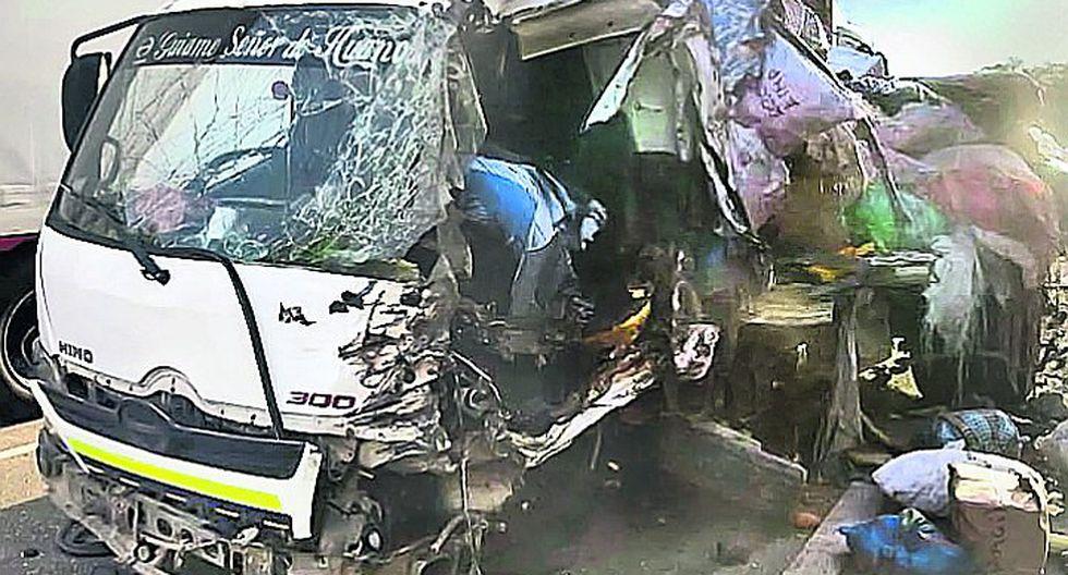Choque de dos camiones deja un muerto y una menor herida