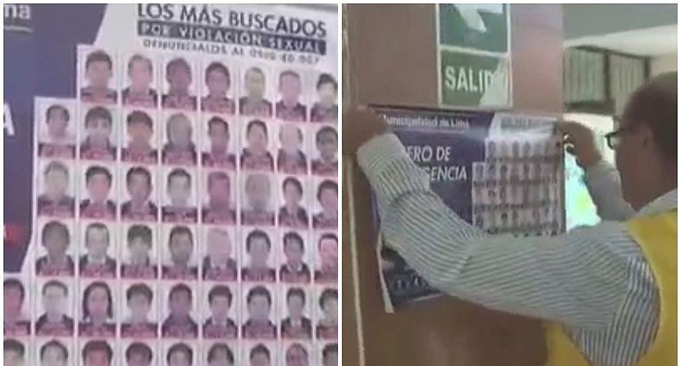 Exponen rostros de violadores en puertas de colegios para capturarlos (VIDEO)