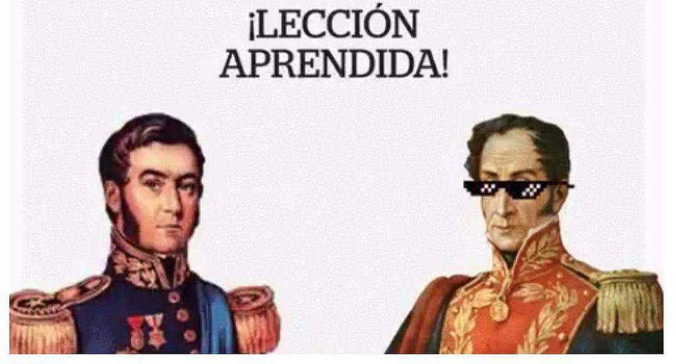 "Ministerio de Educación ""arregla"" error tras confundir a Simón Bolívar con José de San Martín"