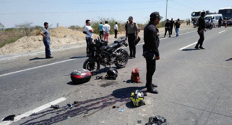 Muere un motociclista tras impactar contra un camión en la carretera a Sullana
